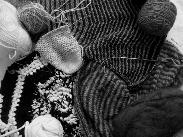multiples projets en tricot