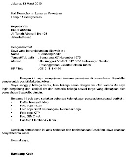 Contoh Surat Lamaran Kerja Ahm Download Gambar Online