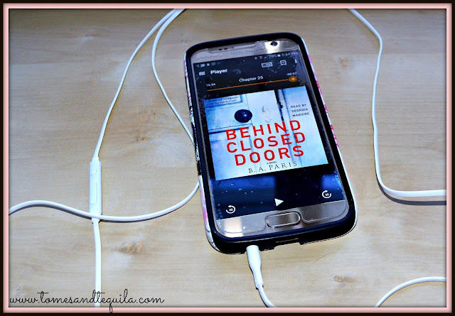 Behind Closed Doors by B.A. Paris Audiobook review by Tomes and Tequila Blog