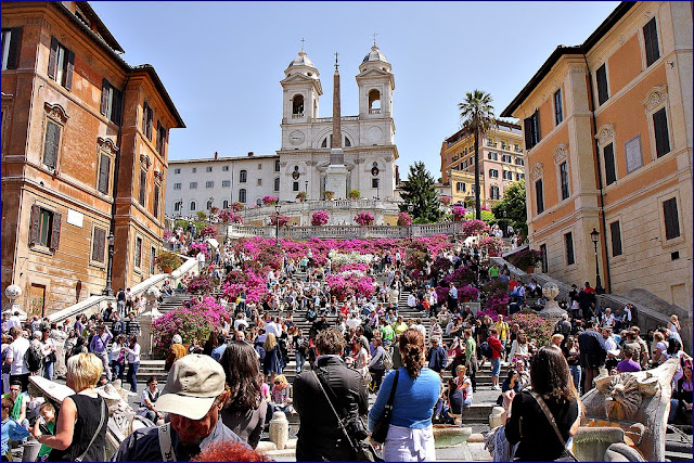 Pontos turísticos em Roma - piazza de spagna