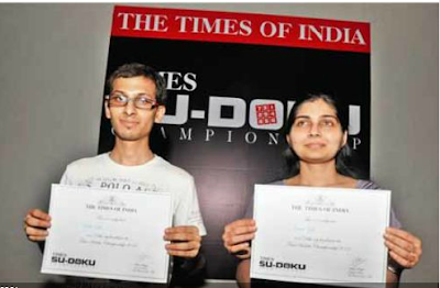 Indian Sudoku Championship-Delhi Winners