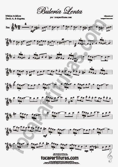 1  Bulería Lenta Partitura de Flauta Travesera, flauta dulce y flauta de pico Sheet Music for Flute and Recorder Music Scores Flamenco