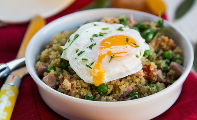 healthy breakfast egg recipes, quinoa breakfast bowl, avgolemono or greek lemon egg soup