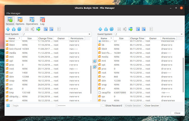 VirtualBox file manager