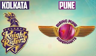 Kolkata Knight Riders vs Rising Pune Supergiants