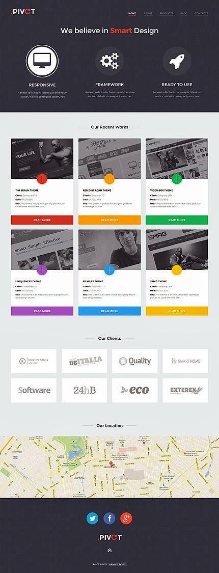 10 Premium WordPress themes with flat design