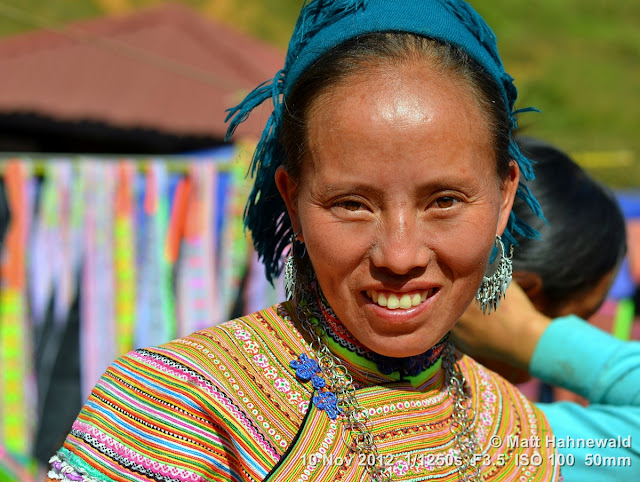 close up, portrait, street portrait, headshot, Vietnam, hill tribe, Hmong, Hmong woman, traditional Hmong costume