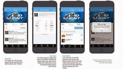 Twitter ha incluido una nueva medida de filtrar la edad de los usuarios que sigan a cuentas de marcas de bebidas alcohólicas. El objetivo es que el contenido de las marcas «llegue a la audiencia apropiada» y que estas puedan controlar con seguridad la edad de sus seguidores «de una forma más sencilla que nunca». Así lo ha anunciado la red social en su blog oficial este martes, de la misma manera que ha concretado que esta medida se ha implantadotanto en su versión web como en la de su aplicación móvil de iOS y Android. A partir de ahora,