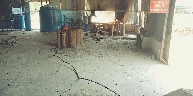 Quảng Ngãi: Nổ đường ống dẫn khí trong lúc sang chiết gas, 3 công nhân bị thương nặng