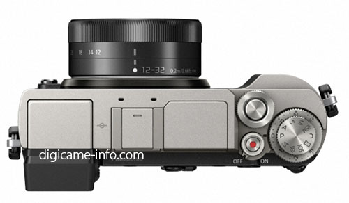 Panasonic Lumix GX9, вид сверху с объективом