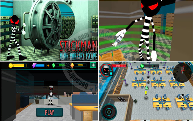 Game Stickman Bank Robery Escape 1.1 Mod Apk Terbaru For ANroid