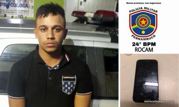 Jovem é detido por receptação em Santa Cruz do Capibaribe