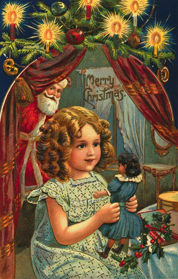 Immagini Vintage Natale.Il Ventaglio Di Piume Bellissime Cartoline Di Natale Vintage Pt 2