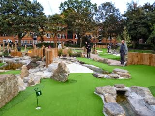 Putt in the Park Crazy Golf Course at Wandsworth Park in London