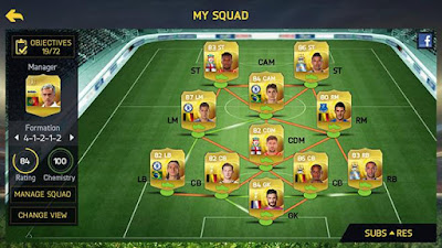 FIFA 15 Ultimate Team Apk Formation