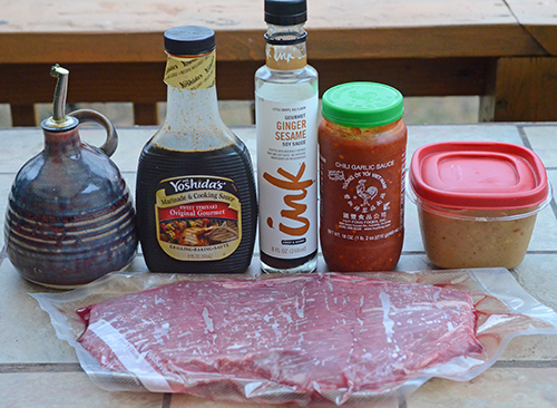 Asian style marinade recipe for flank steak on the grill.