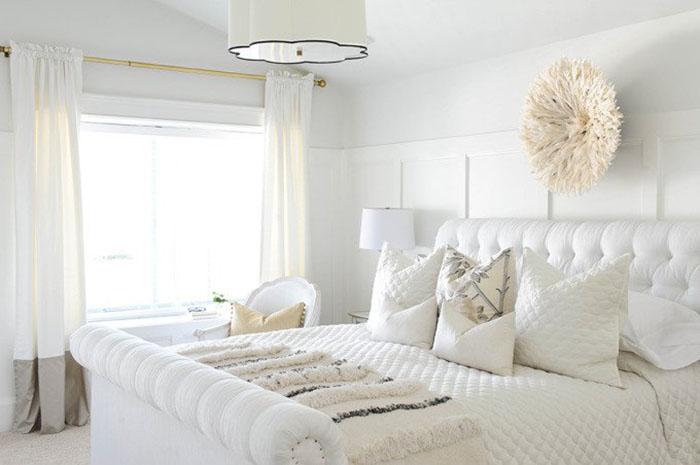 country beyaz yatak odası