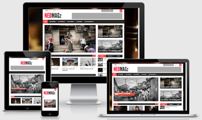 NeoMagz Responsive Magazine Blogger Templates Free Download