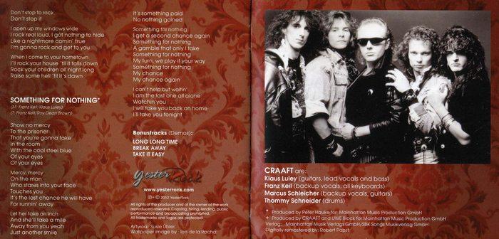CRAAFT - Second Honeymoon [YesterRock remastered +3] booklet