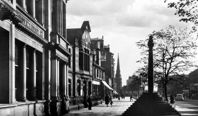 Old Photograph Market Cross Rutherglen Scotland