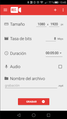 Configurar Rec (Screen Recorder)