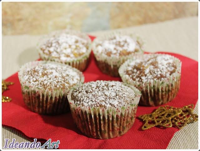 Cupcakes Navidad zanahoria