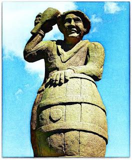 Escultura Böettcher ou Fassbinder (Tanoeiro), Parque Pedras do Silêncio, Nova Petrópolis
