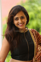 Lasya looks super cute in black choli Saree at Raja Meru Keka Press Meet ~  Exclusive 055.JPG