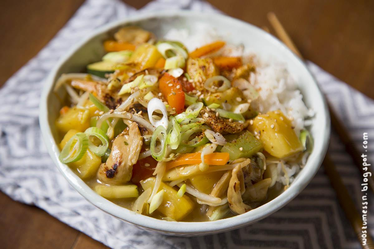 Wos Zum Essn Pulled Soja Mit Ananas In Süß Saurer Soße Vegan