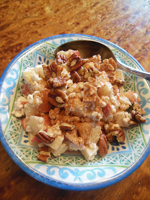 Cottage Apple Salad, simple ingredients come together for a delicious fruit salad.