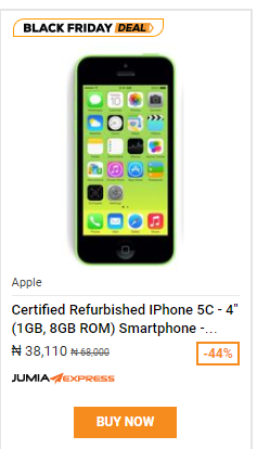 Jumia Black Friday Day 3 Get Apple Iphone For Less Than 40k Iphone 5c 5s 6 And Iphone 8 Selling At Cheap Prices Timigate