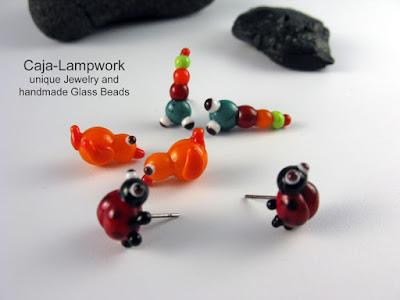 Tier-Ohrstecker aus Glas
