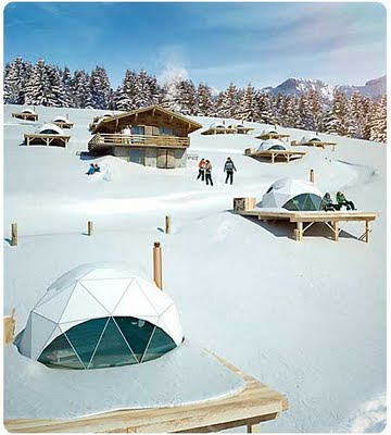 En Whitepod Resort, en los Alpes suizos. 7