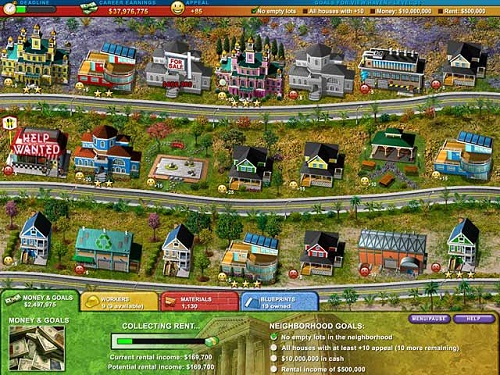 Build-a-lot 2 Town of the Year Property tycoon game with free demo and full version download for PC and Mac