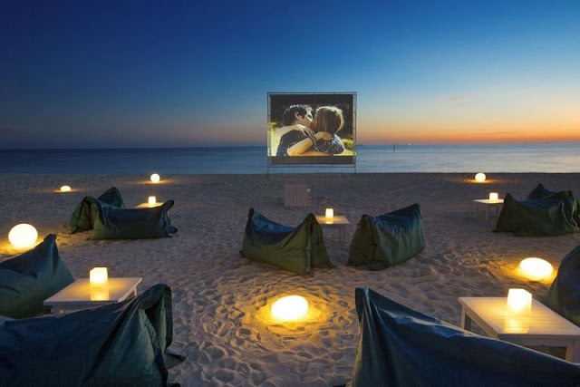 Outdoor Cinema and Catering on the Beach