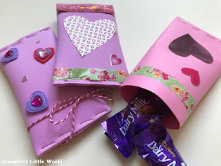 Valentine's Day gift tubes craft