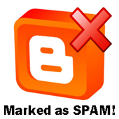 blogger blog falsely marked as spam how to fix