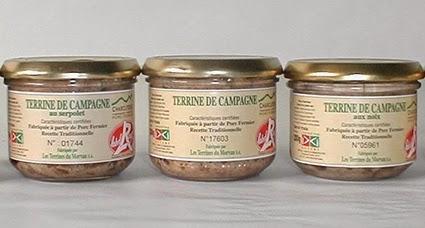 Le magasin d'usine des Terrines du Morvan dans le Nièvre