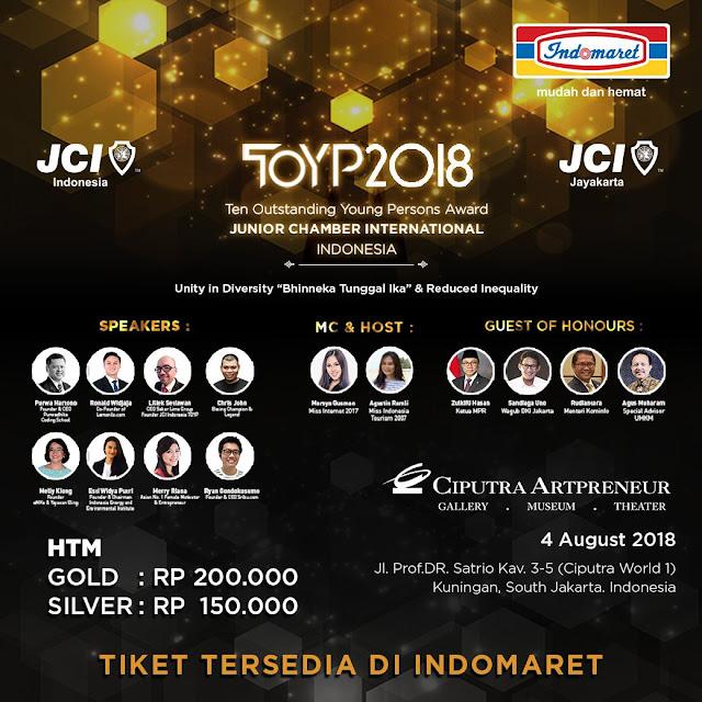 Indomaret - Promo Beli Tiket TOYP2018 Mulai Dari 150 Ribu (s.d 4 Agustus 2018)