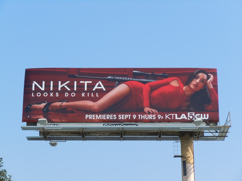 Maggie Q Nikita season 1 billboard