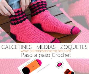 Calcetín  Tejido a Crochet / Paso a paso en español
