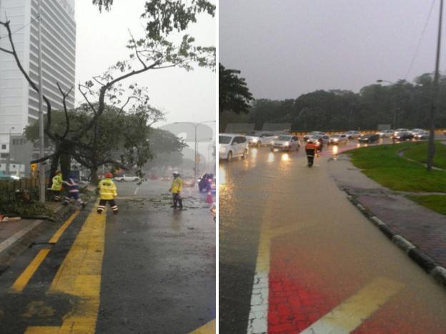 ibu negara di landa hujan batu dan ribut
