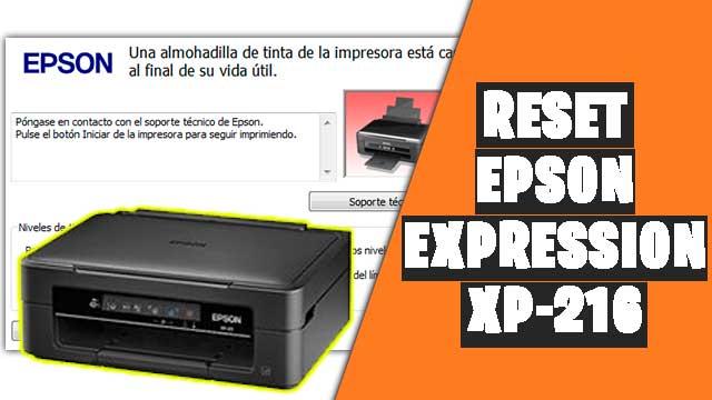 resetear impresora EPSON Expression XP-216