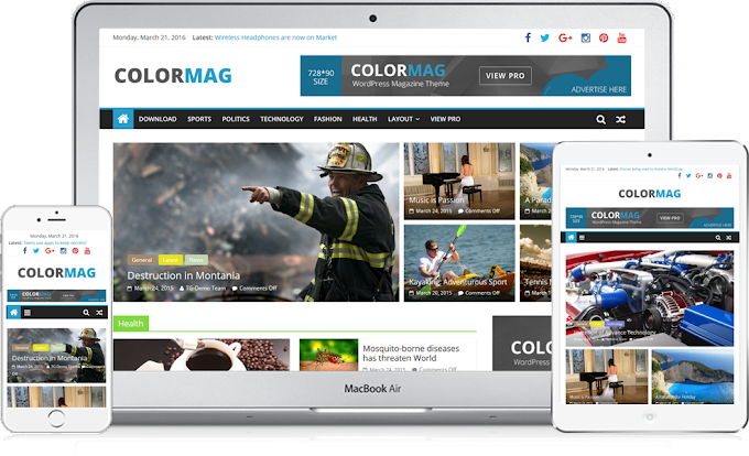 ColorMag Magazine Style WordPress Theme Free Download 2016