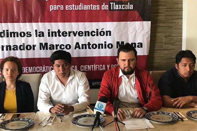 Estudiantes de Tlaxcala  inician protestas en  CDMX ¡