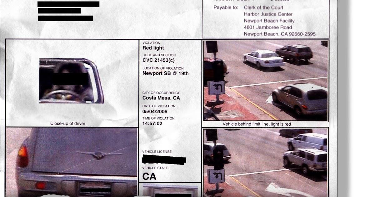 How Do You Get a Red Light Camera Ticket