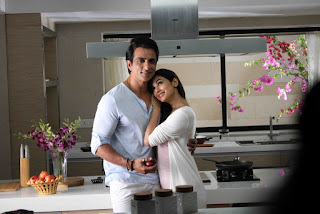 Sonal Chauhan with Sonu Sood at Texmo Pipe Fitting Shooting Spicy Couple