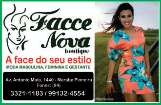 MARABÁ/PA -- FACE NOVA BOUTIQUE -- A FACE DO SEU ESTILO