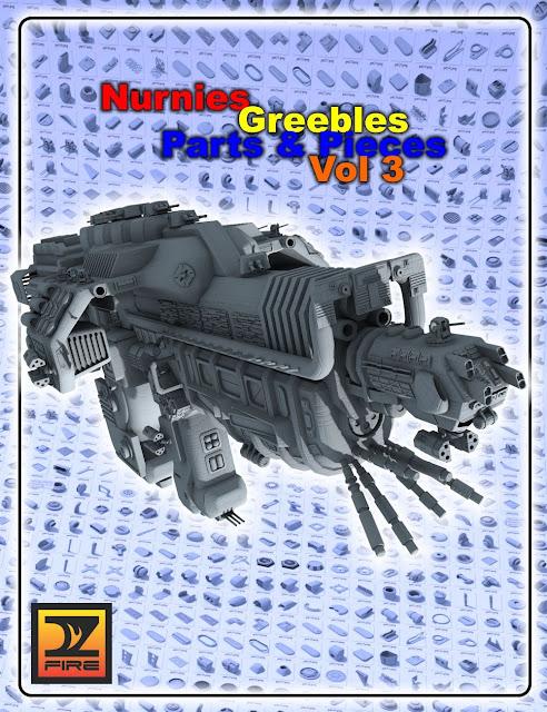 Nurnies Greebles Parts and Pieces Vol 3