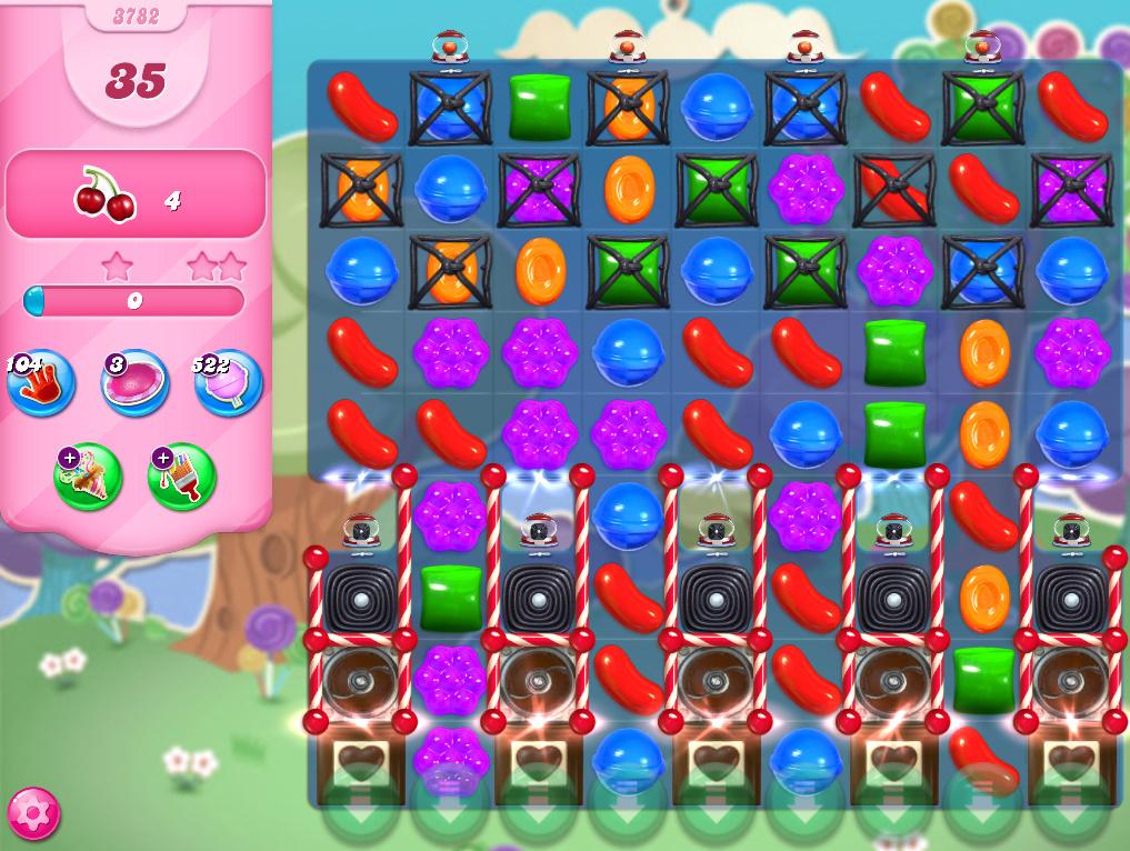 Candy Crush Saga level 3782